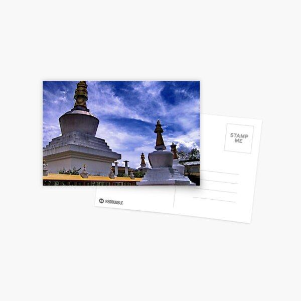 stupas. gangtok, sikkim Postcard