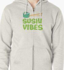 SUSHI VIBES Zipped Hoodie