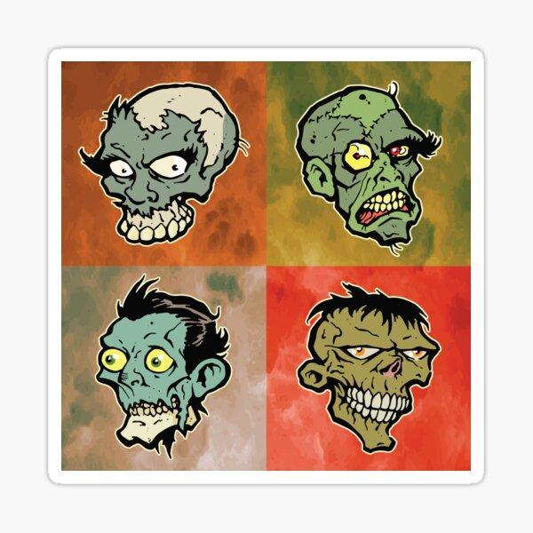 The Walking Heads  Sticker