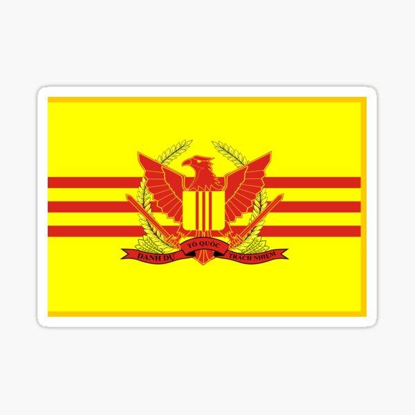 War Flag of South Vietnam Sticker