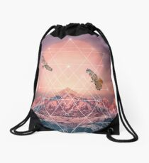 Find the Strength To Rise Up Drawstring Bag