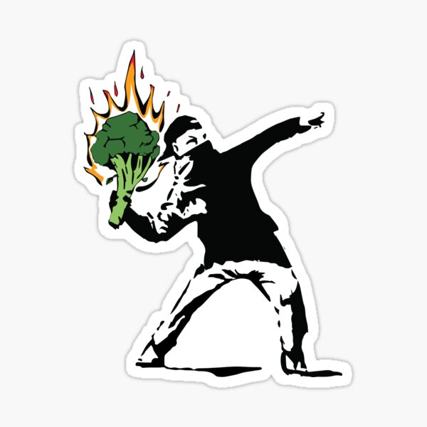 Vegan Banksy Sticker
