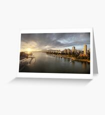 Sunset over Vancouver, BC (Canada) Greeting Card