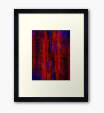 Red Shift Framed Print