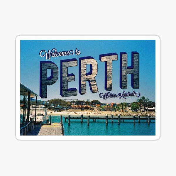 Vintage Perth Postcard Sticker