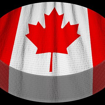 Ice Hockey Puck Canadian Flag Canada Sports Fan Gift by peter2art