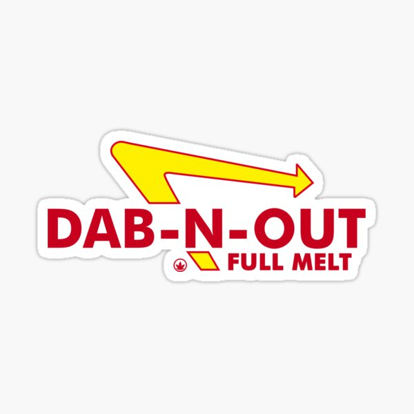 DAB-N-OUT Full Melt Sticker