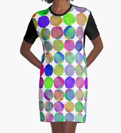 Space snowballs #fractal art Graphic T-Shirt Dress