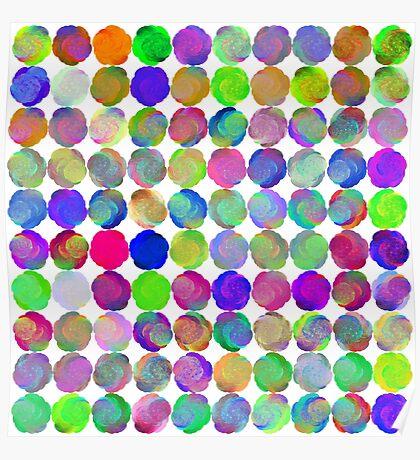 Space snowballs #fractal art Poster