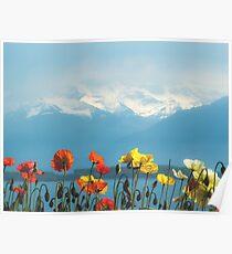 Swiss Flowers Poster