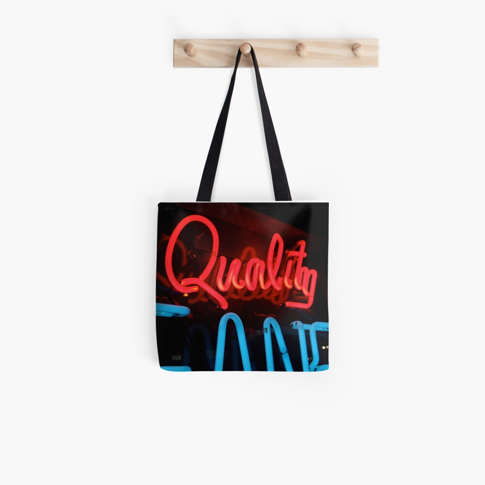 Quality in Neon Tote Bag