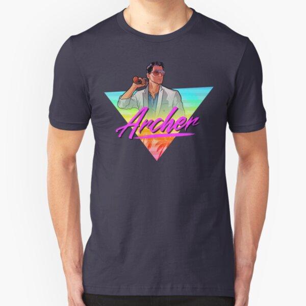 Archer - Vice 80s triangle design Slim Fit T-Shirt