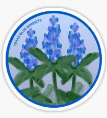 Watercolor Blue Bonnet Sticker