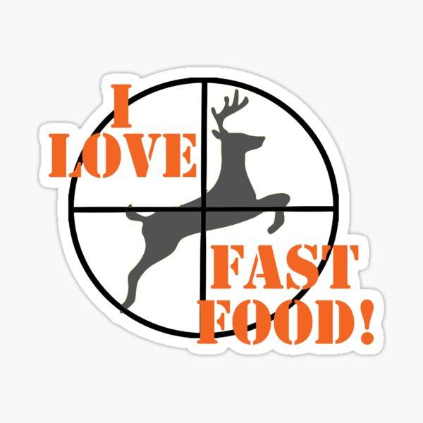 I Love Fast Food Sticker
