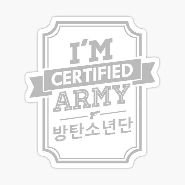 Zertifizierte BTS ARMEE Sticker