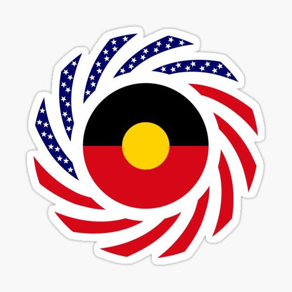 Australian Aboriginal American Multinational Patriot Flag Series Sticker
