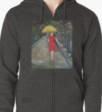 Lady in red Zipped Hoodie