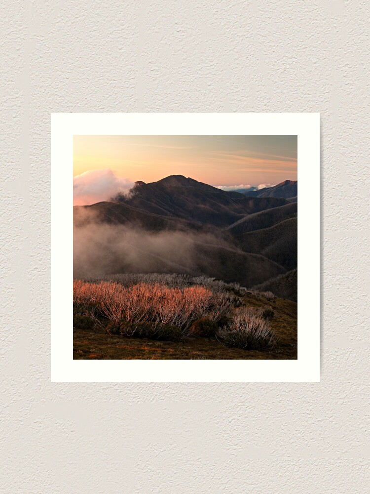Alternate view of Feathertop hues - Victorian Alps Art Print