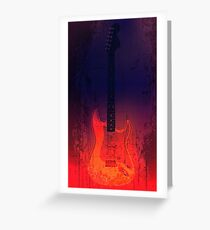 Red Electric Guitar Greeting Card
