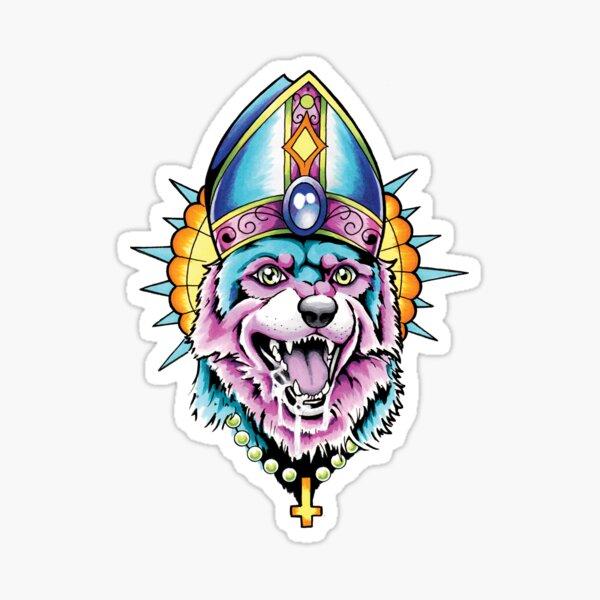 Pope Dog V2 Sticker