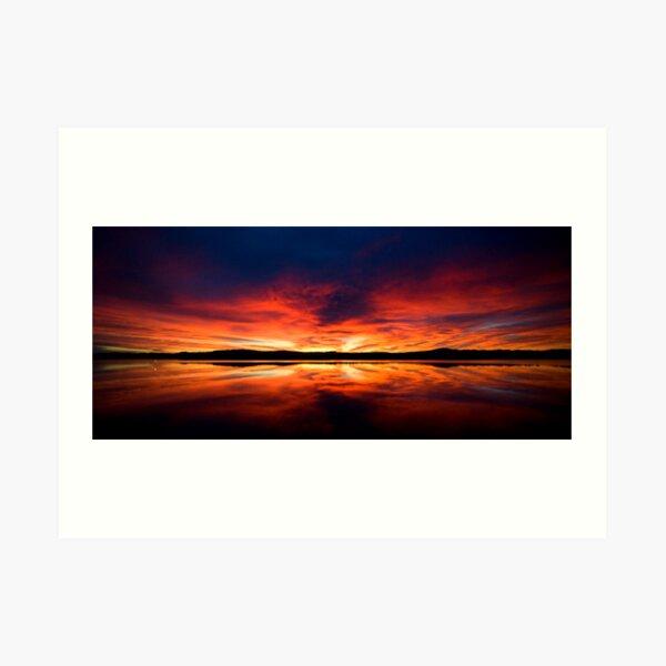 Sunrise over Spencer's Gulf, Port Augusta, SA Art Print