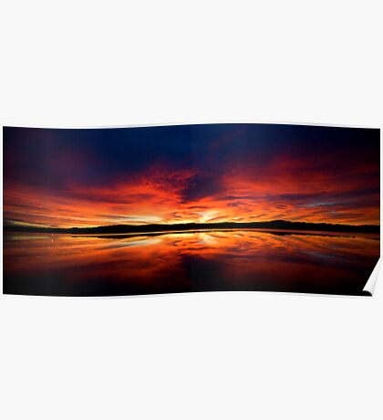 Sunrise over Spencer's Gulf, Port Augusta, SA Poster