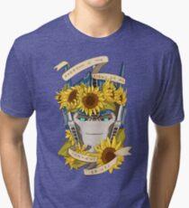 Optimus Prime  - Sunflowers Tri-blend T-Shirt