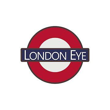 London Eye Underground Tube Logo design by GetItGiftIt