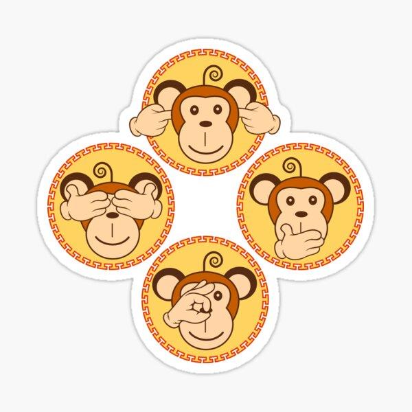 The Fourth Wise Monkeys Sticker