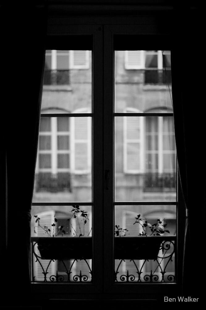 Parisian Window, Black and White by Ben Walker