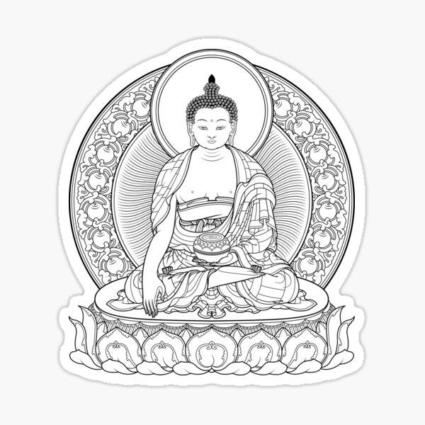 buddha outline Sticker