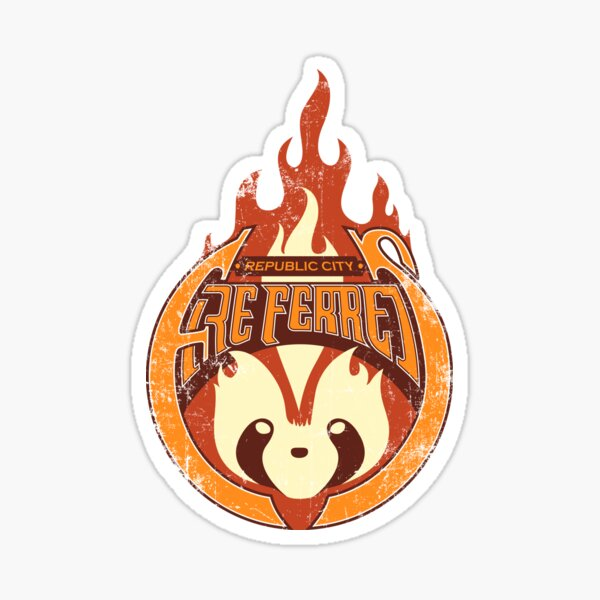 Vintage - Republic City Fire Ferrets Sticker