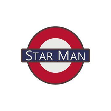 Bowie Star Man London Underground Tube Logo design by GetItGiftIt