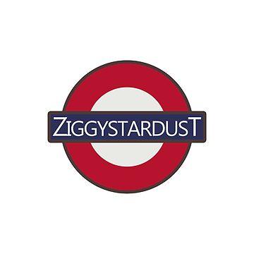 David Bowie Ziggy Stardust London Underground Tube Logo design by GetItGiftIt