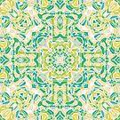 Blühende Felder Mandala von Kelly Dietrich
