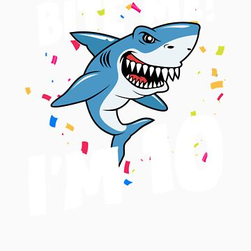 Boys 10 Years Old Happy Birthday Gifts Fun Party Shark Gift Idea by orangepieces