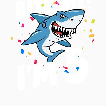 Boys 5 Years Old Happy Birthday Gifts Fun Party Shark Gift Idea by orangepieces