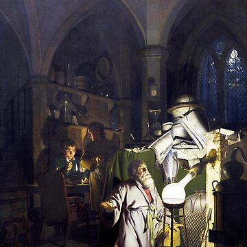 The Alchemist in Search of the Philosopher's Stone, by Joseph Wright, 1771 by TOMSREDBUBBLE
