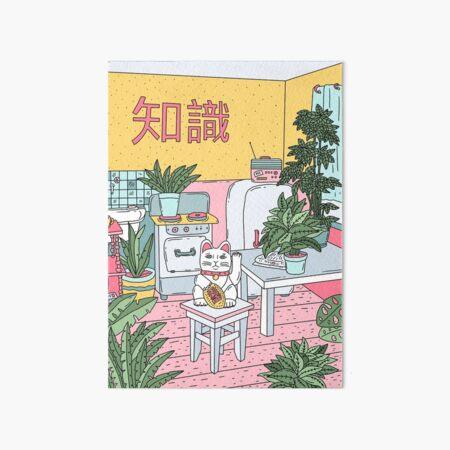 Maneki Plants Art Board Print