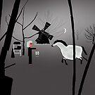 Windmill Scene in the Haunted Garden by Simo Sakari Aaltonen