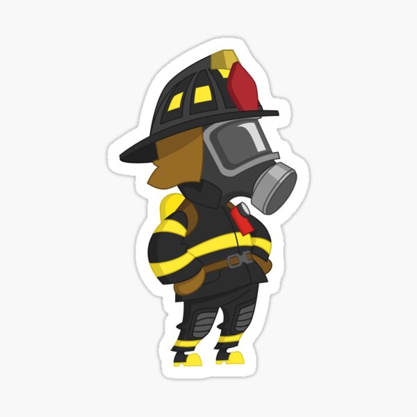 Firefighter arms akimbo Sticker