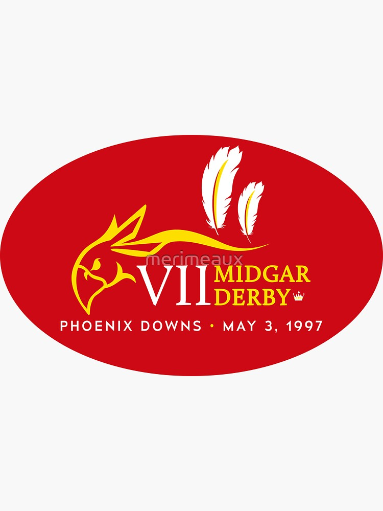 Sticker! Midgar Derby (Oval Version) by merimeaux