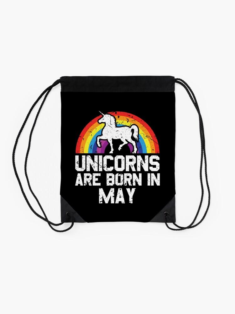 Alternative Ansicht von Unicorns Are Born In May Shirt Birthday Month Gift Tee Turnbeutel