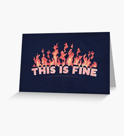 This is Fine Greeting Card