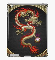Golden Chinese Dragon Fucanglong on Black  iPad Case/Skin