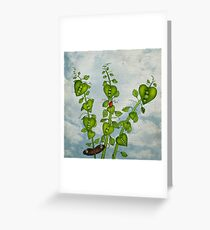 Pea Pod Hearts Greeting Card