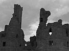 Dunstanburgh Castle (B&W) by Ryan Davison Crisp