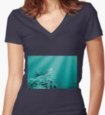 Into The Blue Women's Fitted V-Neck T-Shirt