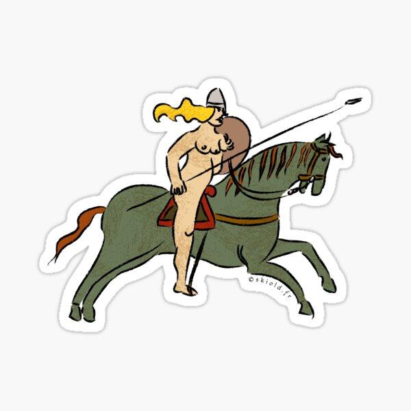 Valkyrie shieldmaiden Sticker