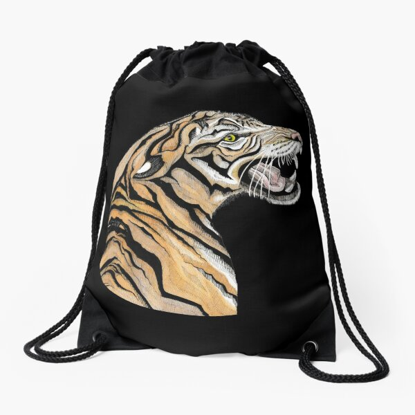 Tiger Totem Drawstring Bag